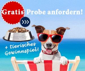 Hundefutterprobe gratis